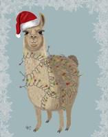 Llama, Christmas Lights 2 Fine Art Print