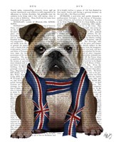 English Bulldog with Scarf Fine Art Print