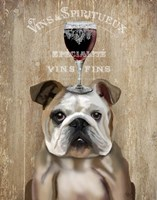 Dog Au Vin, English Bulldog Framed Print