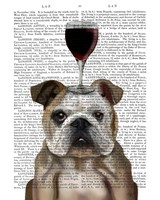 Dog Au Vin, English Bulldog Fine Art Print