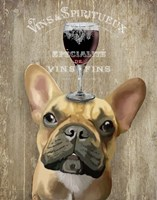Dog Au Vin, French Bulldog Fine Art Print