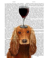 Dog Au Vin, Cocker Spaniel Fine Art Print