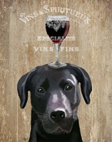 Dog Au Vin, Black Labrador Framed Print