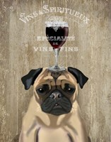 Dog Au Vin, Pug Fine Art Print