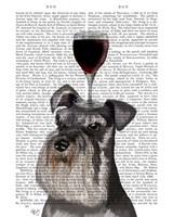 Dog Au Vin, Schnauzer Fine Art Print