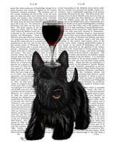 Dog Au Vin, Scottish Terrier Fine Art Print