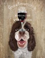 Dog Au Vin, Springer Spaniel Fine Art Print