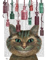 Cheshire Cat and Bottles Fine Art Print