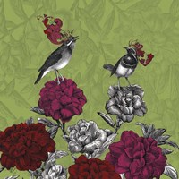 Blooming Birds, Rhododendron Fine Art Print