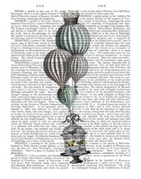 Balloon and Bird Cage 1 Fine Art Print
