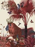 Red Lion, Portrait Fine Art Print