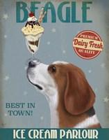 Beagle Ice Cream Fine Art Print