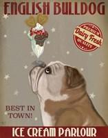 English Bulldog Ice Cream Fine Art Print