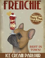 French Bulldog Ice Cream Framed Print