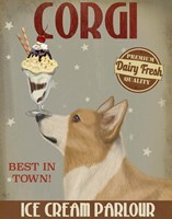 Corgi, Tan, Ice Cream Fine Art Print