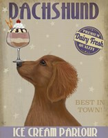 Dachshund, Gold, Ice Cream Fine Art Print