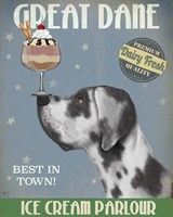 Great Dane, Harlequin, Ice Cream Fine Art Print
