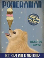 Pomeranian Ice Cream Fine Art Print