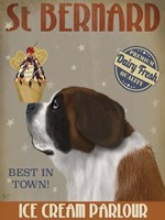St Bernard Ice Cream Fine Art Print