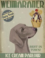 Weimaraner Ice Cream Fine Art Print