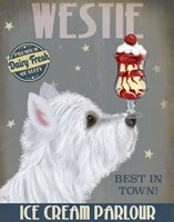 Westie Ice Cream Fine Art Print