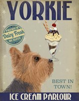 Yorkshire Terrier Ice Cream Fine Art Print