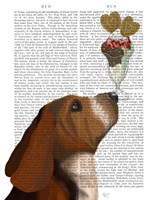 Basset Hound Ice Cream Fine Art Print