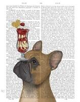 French Bulldog Ice Cream Fine Art Print