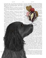 Cocker Spaniel, Black, Ice Cream Fine Art Print