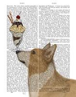 Corgi, Tan, Ice Cream Fine Art Print