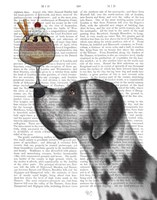 Great Dane, Harlequin, Ice Cream Fine Art Print