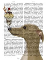 Greyhound, Tan, Ice Cream Fine Art Print