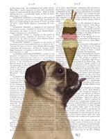 Pug, Fawn, Ice Cream Fine Art Print