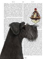 Schnauzer, Black, Ice Cream Fine Art Print