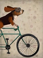 Basset Hound on Bicycle Fine Art Print
