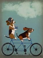 Basset Hound Tandem Framed Print