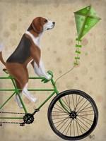 Beagle on Bicycle Fine Art Print