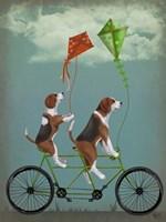 Beagle Tandem Fine Art Print