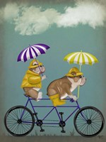 English Bulldog Tandem Fine Art Print