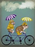 English Bulldog Tandem Framed Print