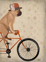 French Bulldog on Bicycle Fine Art Print