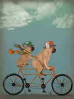 French Bulldog Tandem Fine Art Print