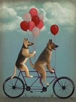 German Shepherd Tandem Fine Art Print