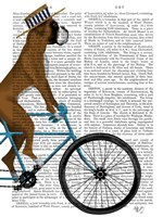 Boxer on Bicycle Fine Art Print