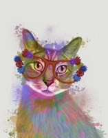 Rainbow Splash Cat 1 Fine Art Print