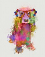 Rainbow Splash Cocker Spaniel, Full Fine Art Print