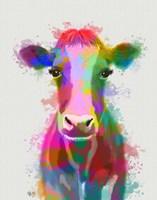 Rainbow Splash Cow Fine Art Print
