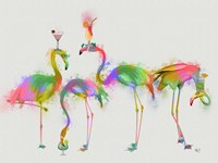Rainbow Splash Cocktail Party Fine Art Print