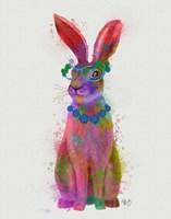 Rainbow Splash Rabbit 2, Full Fine Art Print