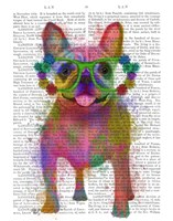 Rainbow Splash French Bulldog, Full Fine Art Print